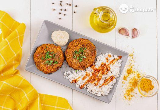 Hamburguesas veganas de lentejas y verduras
