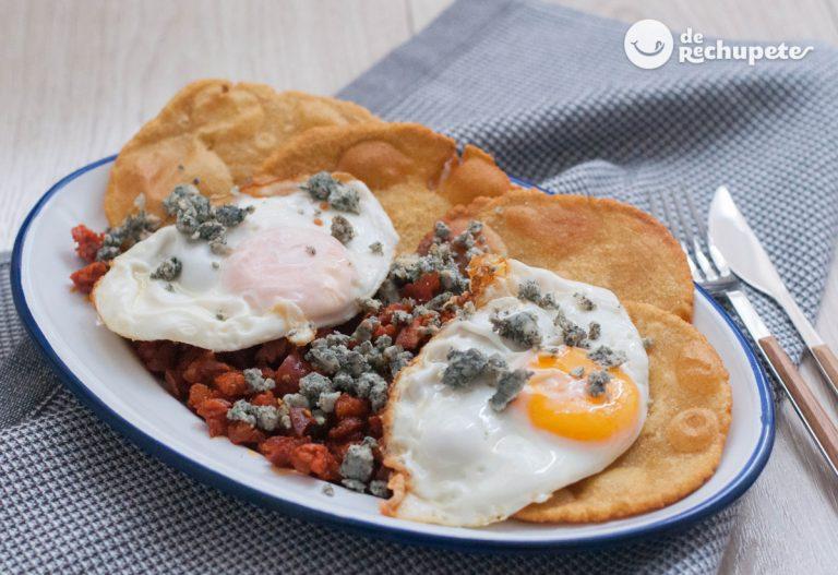 Tortos asturianos con picadillo y Cabrales