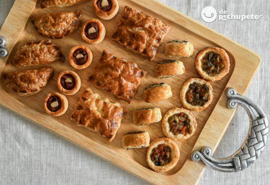 Canapés con hojaldre. 5 ideas de aperitivos navideños