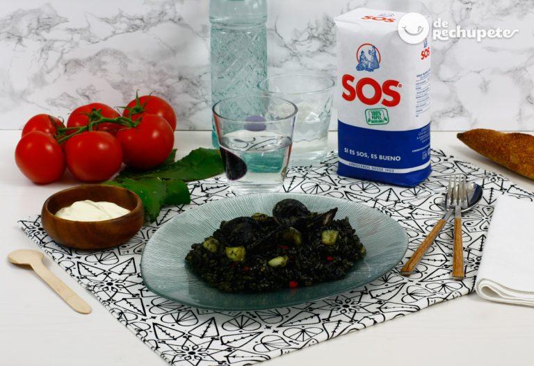 Arroz negro con sepia y almejas
