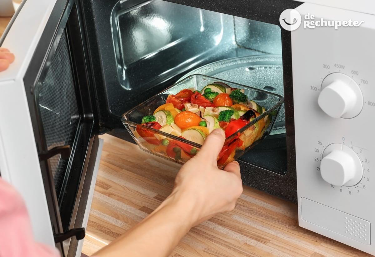 como hacer zanahorias al vapor en microondas