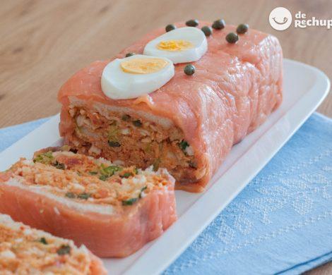 Pastel de salmón ahumado. Receta fácil para Navidad