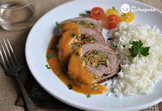 Rollo de carne relleno o Roti