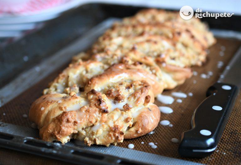 Pan dulce de avellanas. Trenza navideña