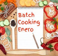 Menú de batch cooking de Enero