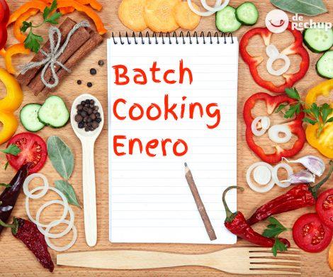 Menú de batch cooking de Enero