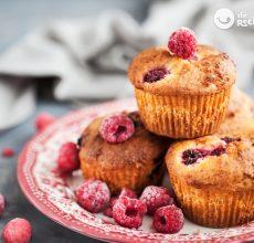 Muffins de frambuesa y yogurt