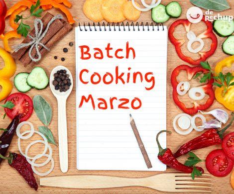 Menú de batch cooking de marzo