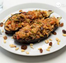 Berenjenas rellenas de verduras al estilo turco