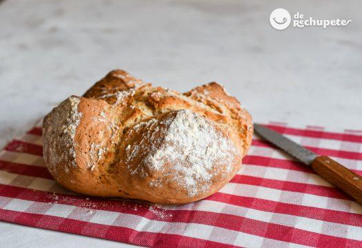 Pan fácil y rápido con harina común y levadura química