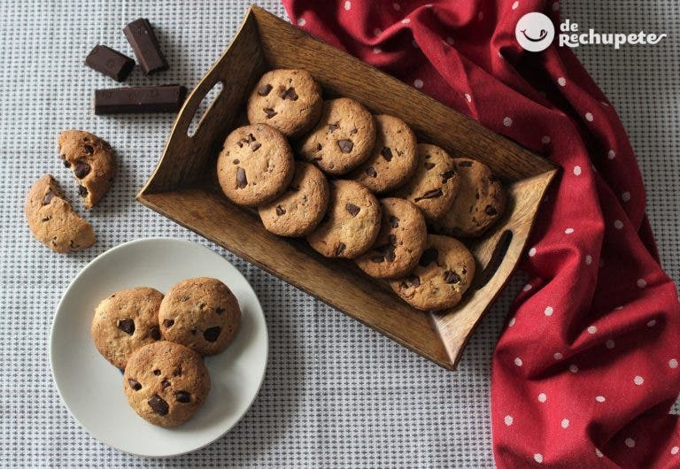 Galletas de chocolate crujientes