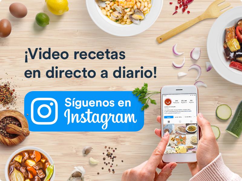 Video recetas en directo a diario. Síguenos en Instagram @Derechupete