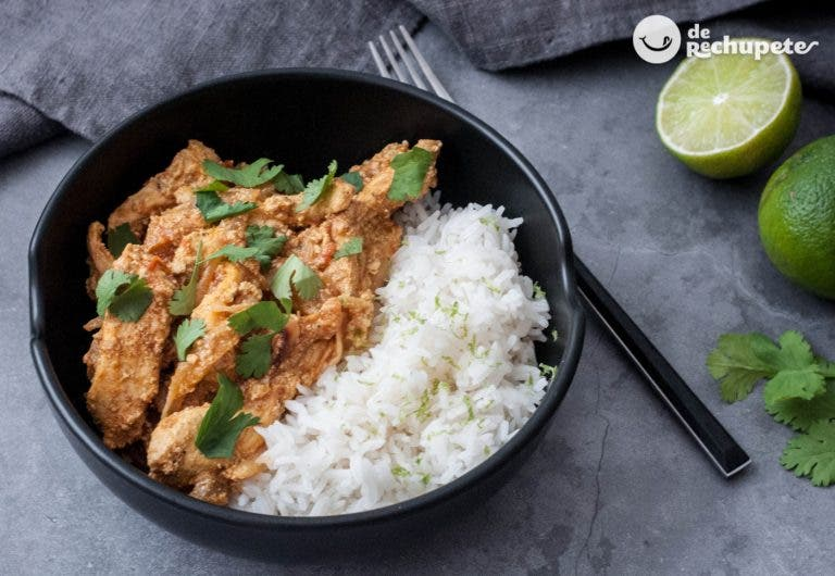 Pollo tikka masala con arroz basmati