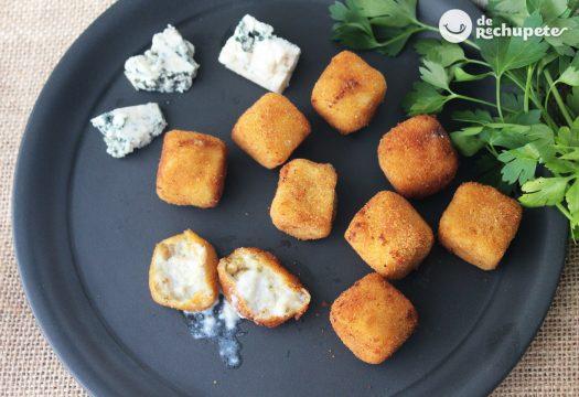 Croquetas casi líquidas de queso y pollo