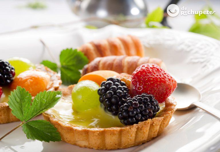 Tarta o tartaletas de frutas