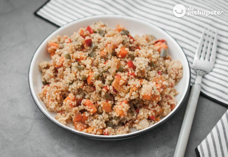 Quinoa con verduras. Receta súper fácil y saludable