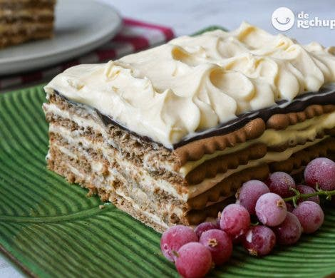 Tarta de galletas con mascarpone y chocolate