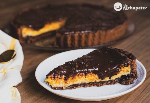 Tarta de calabaza y chocolate al estilo Denia con base crujiente de Jamie Oliver