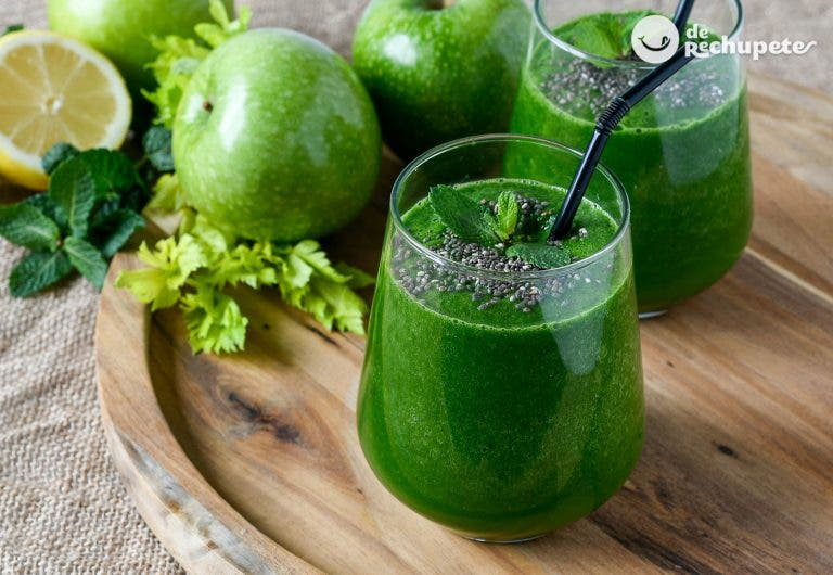 Batido verde dietético y antioxidante perfecto para el desayuno