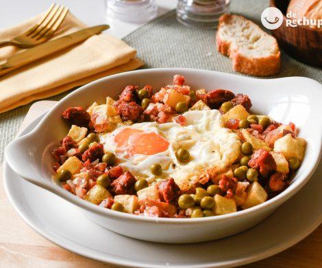 Huevos a la flamenca. Receta sana, sabrosa y barata