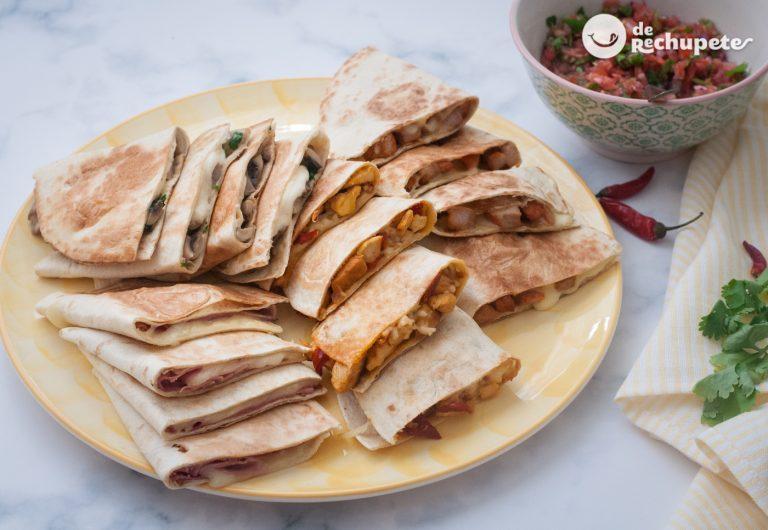 Quesadillas fáciles mexicanas. Varias recetas para triunfar en tu mesa