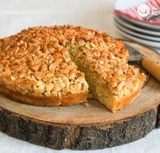 Tarta de almendras casera. Receta portuguesa tradicional y deliciosa