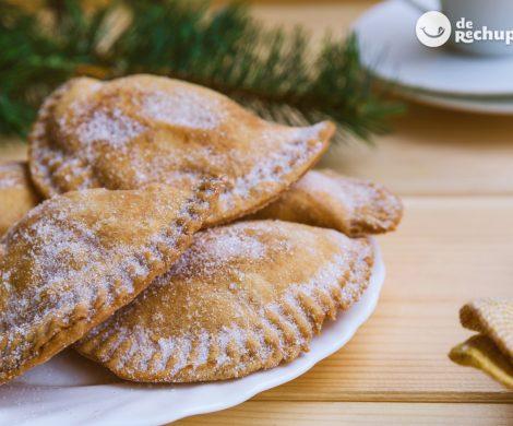 Truchas de batata o boniato con almendra. Receta dulce canaria de Navidad
