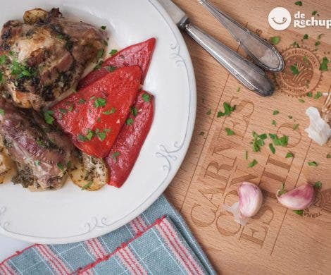 Asado de cordero Ternasco de Aragón IGP con patatas