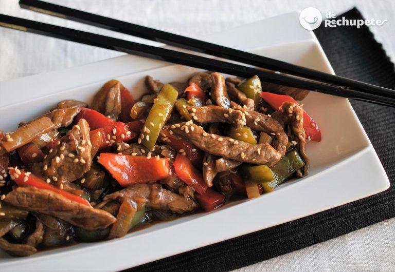 Ternera picante de los restaurantes chinos