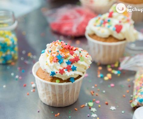 Cupcakes de vainilla especial Carnaval