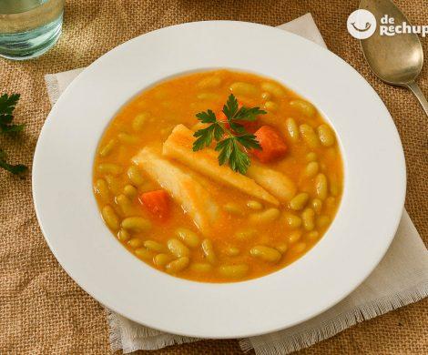 Verdinas de bacalao y verduras. Receta asturiana de Semana Santa