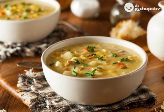 Sopa de maíz o Corn chowder