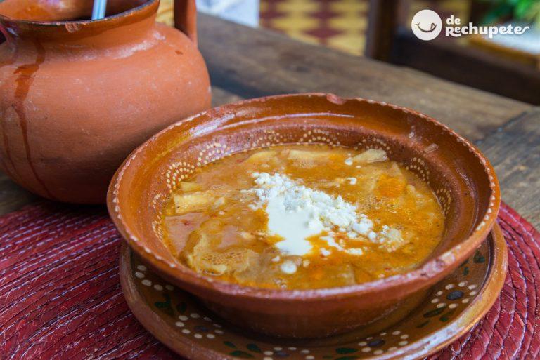 Sopa tarasca. Deliciosa receta mexicana