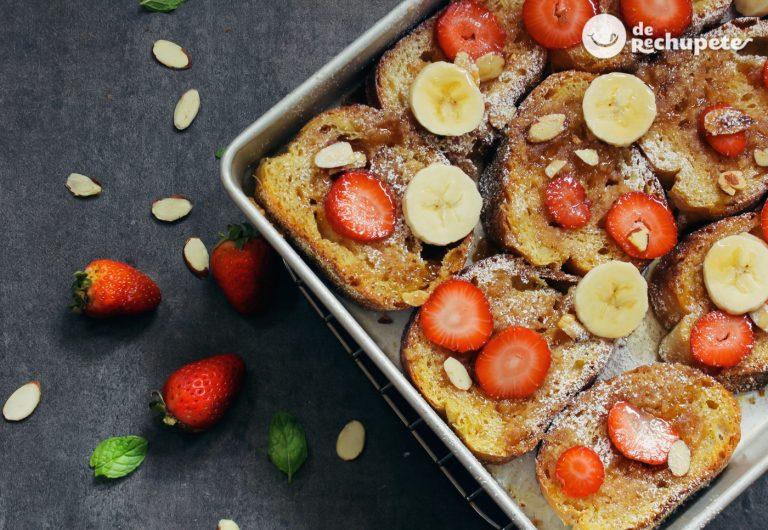 Tostadas francesas o french toast. Receta muy fácil para disfrutar del desayuno