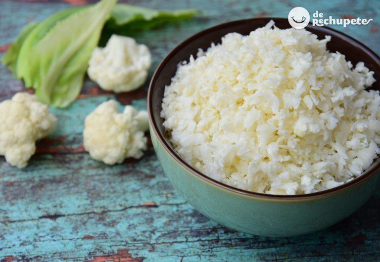 Cómo hacer un arroz de coliflor