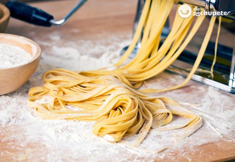 Cómo hacer pasta fresca casera con máquina