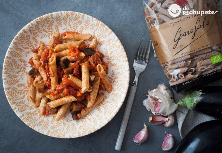 Pasta integral con verduras. Receta de pasta sana y deliciosa