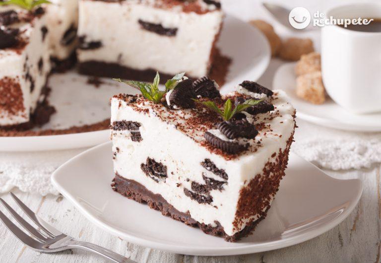 Tarta de Oreo. Receta fácil y sin horno