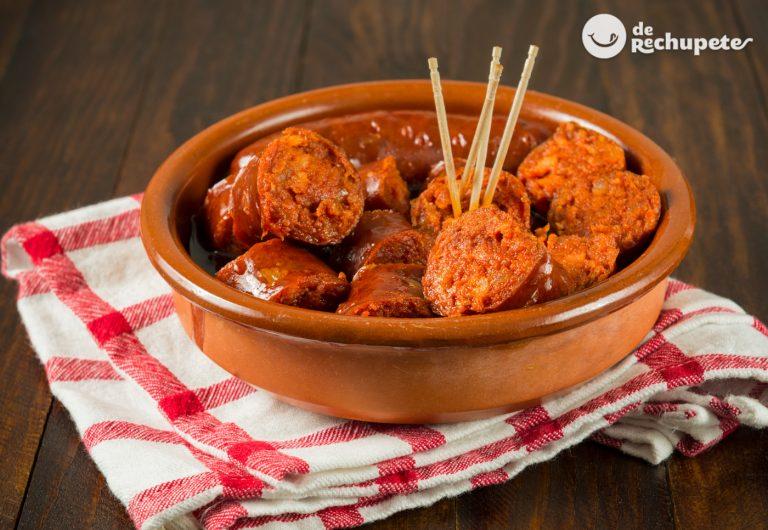 Chorizos a la sidra. Receta asturiana fácil paso a paso