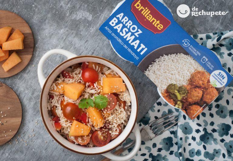 Ensalada de arroz basmati rápida y ligera