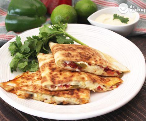 Cómo hacer unas quesadillas vegetarianas y veganas. 3 tipos para disfrutar en casa