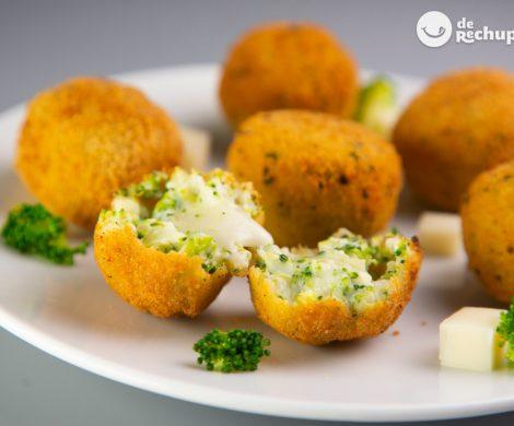 Croquetas de brócoli y queso. Receta casera y fácil